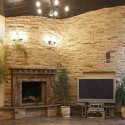 stacked stone fireplace , 8 Beautiful Stacked Stone Fireplace Pictures In Furniture Category