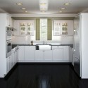 u shaped kitchen ideas white layout , 5 Charming U Shaped Kitchen Layouts In Kitchen Category