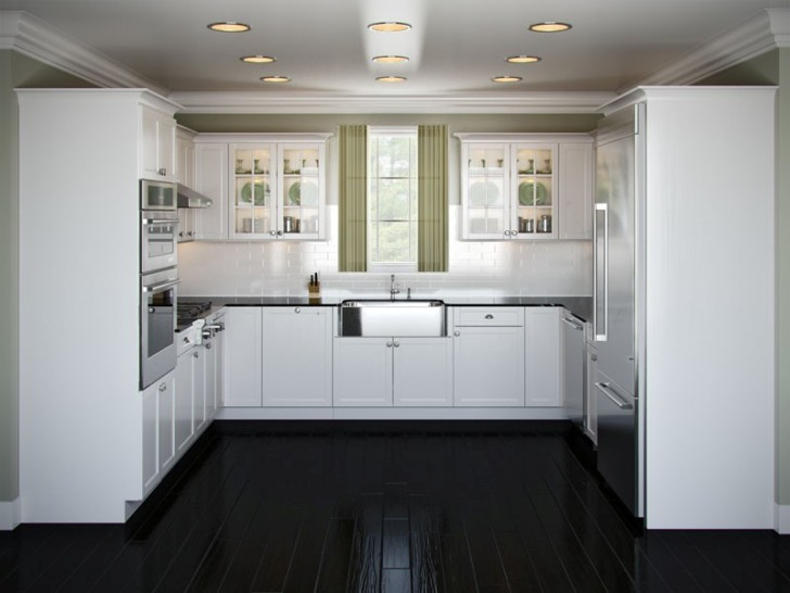 Kitchen , 5 Charming U Shaped Kitchen Layouts : u shaped kitchen ideas white layout