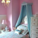 wood bed crown , 4 Charming Little Girl Canopy Beds In Bedroom Category