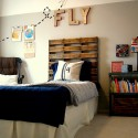 wooden pallet headboard , 7 Charming Homemade Bed Headboards In Bedroom Category
