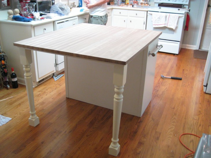 Kitchen , 6 Good Kitchen Island Legs Unfinished : Adventure Island