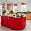 Bold red island , 9 Charming Kitchen Island In Kitchen Category