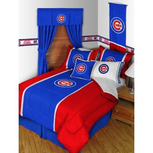 Bedroom , 10 Nice Chicago Cubs Bedroom Ideas : Chicago Cubs Bedding