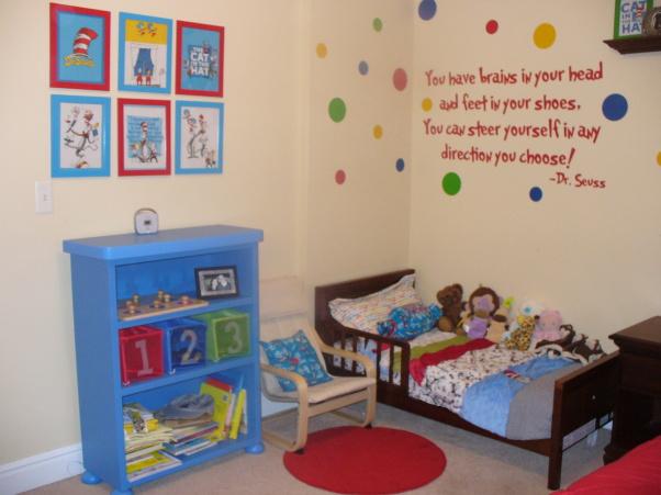 Bedroom , 8 Nice Dr Seuss Bedroom Ideas : Dr. Seuss Toddler Boy Room