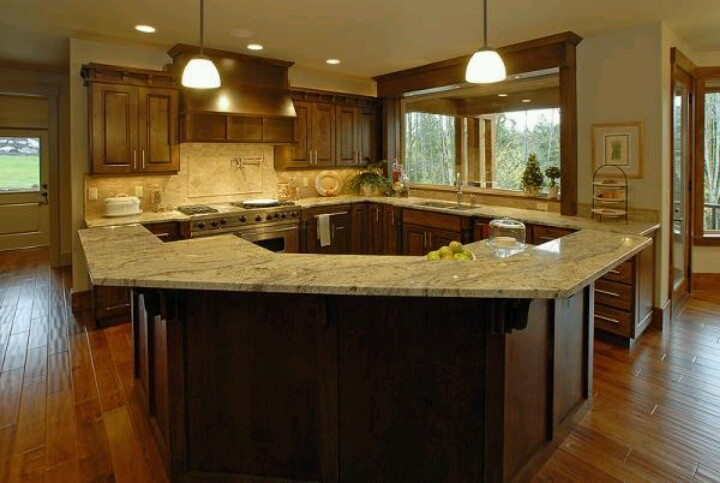 Kitchen , 4 Cool Huge Kitchen Islands : Kitchen Ideas