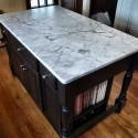 Kitchen island , 9 Fabulous Marble Topped Kitchen Island In Kitchen Category