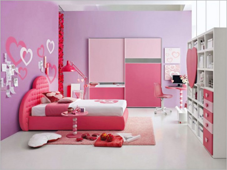 Bedroom , 10 Good Ideas For Tween Girls Bedrooms : Pink Purple Tween Teen Girls Room