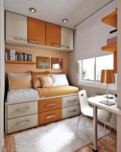 Bedroom , 5 Unique Space Saver Ideas For Small Bedrooms : Space Saving Ideas for Small Bedrooms