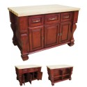 dark red kitchen island , 6 Good Kitchen Island Legs Unfinished In Kitchen Category