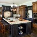 granite kitchne island , 9 Fabulous Marble Topped Kitchen Island In Kitchen Category