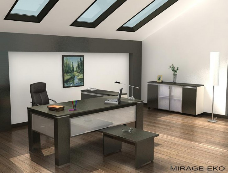 Office , 9 Charming Design Modern Office : modern office furniture model