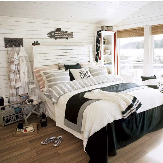 Bedroom , 6 Stunning Nautical Themed Bedroom Ideas : nautical bedroom