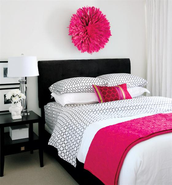 pink white and black bedroom white black pink bedroom 8 wonderful fuschia bedroom 19489