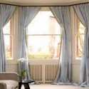 Bay Window Curtain Ideas , 8 Fabulous Curtain Rods For Bay Windows Ideas In Living Room Category