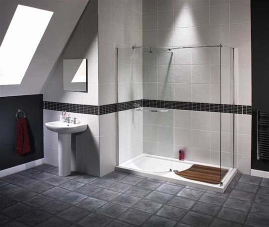542x458px 9 Unique Doorless Shower Design Ideas Picture in Bathroom