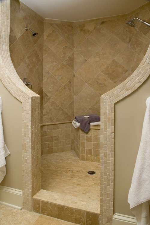 Dual Shower Heads 6 Wonderful Doorless Walk In Shower Designs EstateRegio