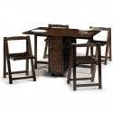 Leaf Dining Table , 7 Awesome Collapsible Dining Table And Chairs In Furniture Category
