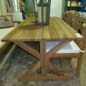 Outdoor Dining Table , 8 Unique Reclaimed Teak Dining Table In Furniture Category