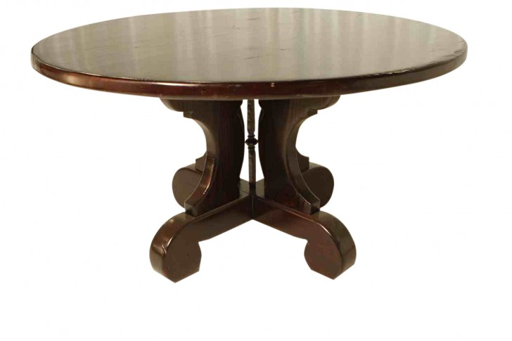 Furniture , 7 Charming Round Dining Table Reclaimed Wood : Round Dining Table