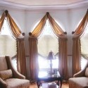 Scarf Curtain Designs , 8 Hottest Curtain Ideas For Arched Windows In Living Room Category