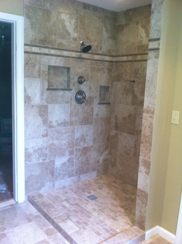 Bathroom , 6 Fabulous Walk In Doorless Showers : Walk In Doorless Shower Pans
