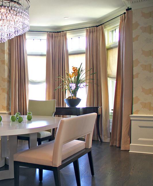Living Room , 8 Fabulous Curtain Rods For Bay Windows Ideas :  curtain ideas