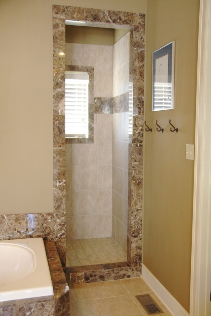 Bathroom , 7 Outstanding Doorless Shower Pictures :  design bathroom