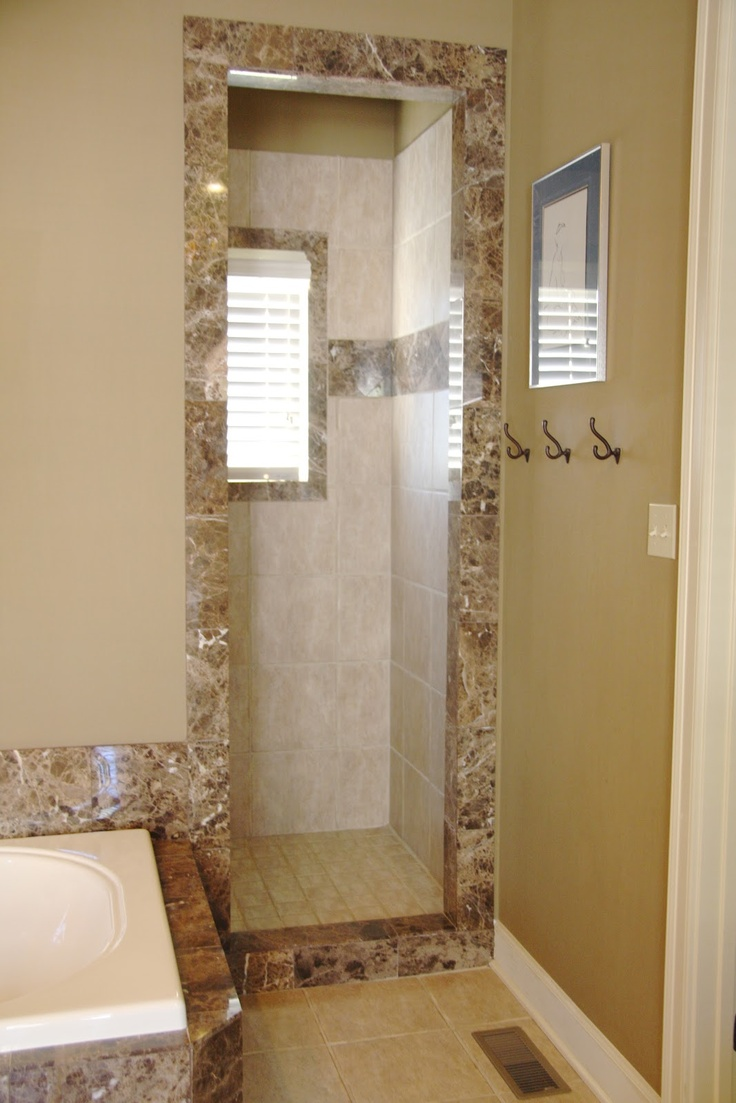 736x1103px 7 Outstanding Doorless Shower Pictures Picture in Bathroom