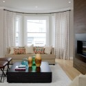 design small living room , 8 Charmming Window Treatments For Bow Windows In Living Room In Living Room Category
