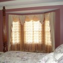 home design ideas , 7 Awesome Drapery Ideas For Bay Windows In Living Room Category
