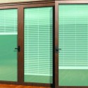 hunter douglas , 8 Unique French Door Enclosed Blinds In Living Room Category
