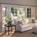 living room , 7 Awesome Window Treatments For Bow Windows In Living Room In Living Room Category
