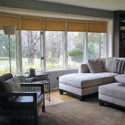 living room design ideas , 8 Charmming Window Treatments For Bow Windows In Living Room In Living Room Category