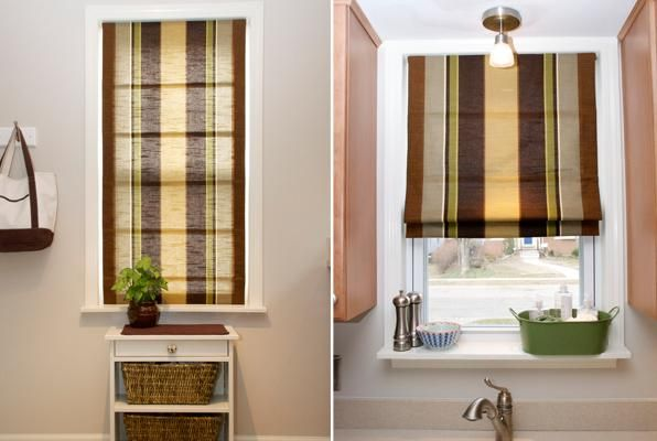 Furniture , 7 Cool Diy Cordless Roman Shades :  roman shades for french doors