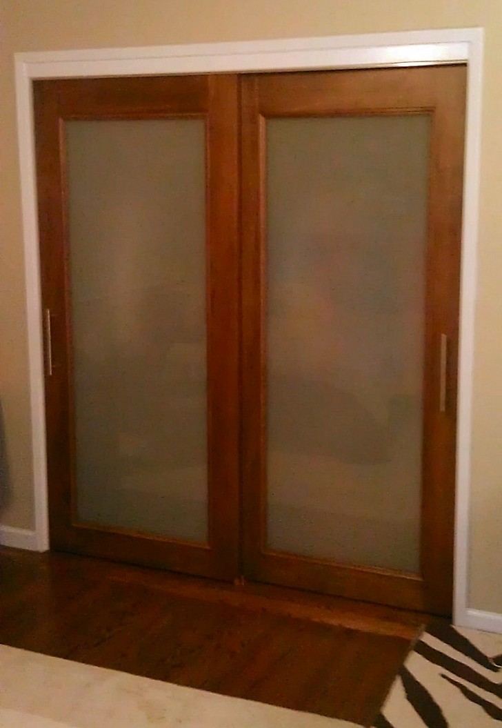 Furniture , 8 Charming Frosted Sliding Closet Doors :  sliding closet doors