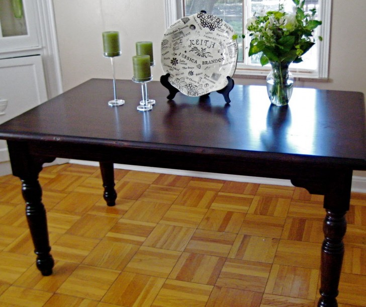 Furniture , 9 Stunning Refinishing Dining Table : the Dining Room Table