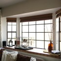 vertical blinds , 7 Awesome Window Treatments For Bow Windows In Living Room In Living Room Category