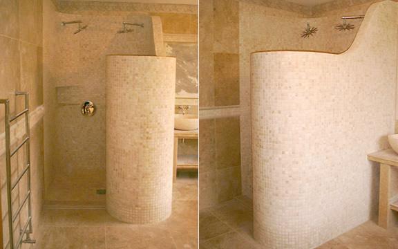Bathroom , 6 Unique Doorless Walk In Shower Pictures : walk in or doorless showers