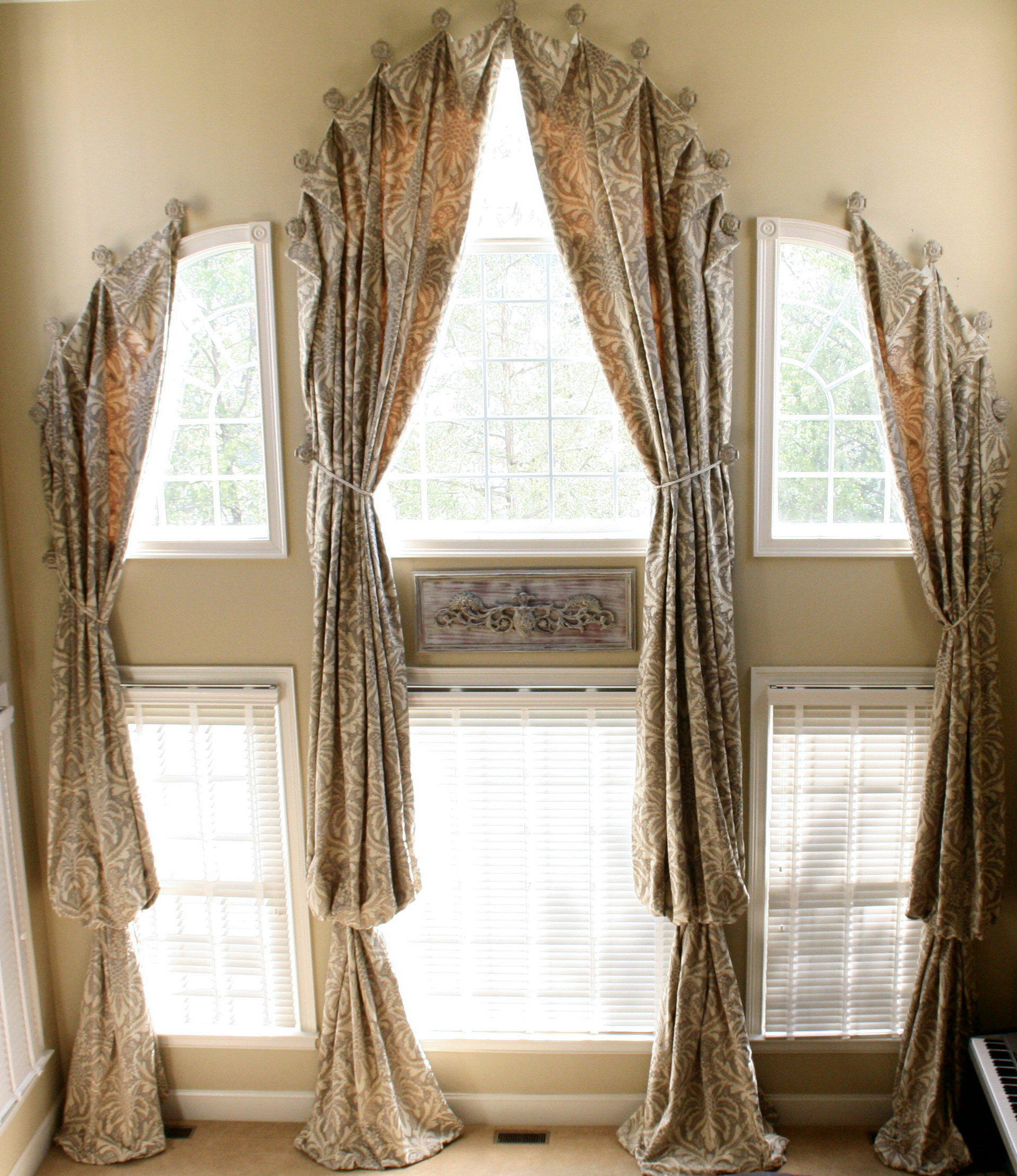 1919x2219px 8 Hottest Curtain Ideas For Arched Windows Picture in Living Room