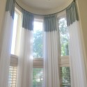 window curtains , 8 Fabulous Curtain Rods For Bay Windows Ideas In Living Room Category