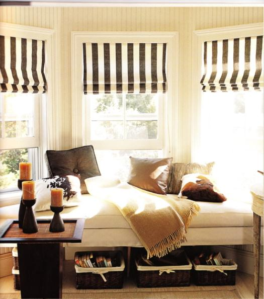 Furniture , 8 Awesome Window Treatments For Bow Windows : window treatments