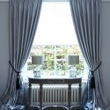 windows blinds , 7 Awesome Drapery Ideas For Bay Windows In Living Room Category