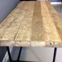 wood dining table , 6 Stunning Reclaimed Wood Dining Table Chicago In Furniture Category