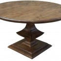 Algonquin Round Trestle Dining Table , 7 Unique Trestle Dining Tables With Reclaimed Wood In Furniture Category