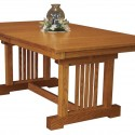 Amish Mission Table , 8 Stunning Trestle Dining Room Table In Furniture Category