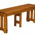 Amish Trestle Dining Table , 8 Excellent Rectangle Dining Table With Bench In Furniture Category
