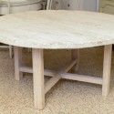 Antique Organic Round Dining Table , 8 Good Poplar Dining Table In Furniture Category
