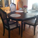 Backed Chairs , 8 Nice Refinish Dining Table In Furniture Category