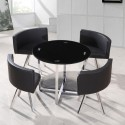 Black Glass hideaway dining set , 8 Stunning Hideaway Dining Table And Chairs In Dining Room Category